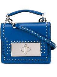 Marc Jacobs Mini 'Mischief' Studded Shoulder Bag Blue