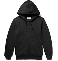 Public School Printed Fleece Back Cotton Jersey Zip Up Hoodie Charcoal