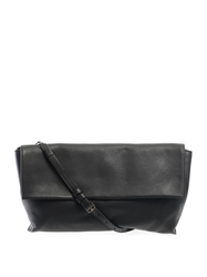 The Row Flapped Leather Shoulder Bag