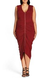 City Chic Plus Size Women's 'Sexy Drape' Midi Dress