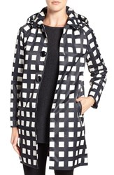 Kate Spade Women's New York Removable Hood Macintosh Coat