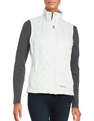 Marmot Diamond Quilted Zip Front Vest Soft White