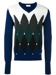 Ballantyne Geometric Intarsia Jumper Multicolour