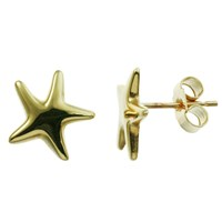 Nina B 9Ct Yellow Gold Starfish Stud Earrings Gold