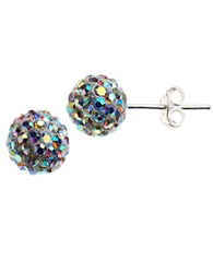Lord And Taylor Sterling Silver Cluster Stud Earrings