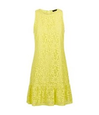 Juicy Couture Lace Flippy Dress Yellow