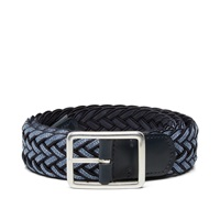 Andersons Anderson's Reversible Woven Belt Navy And Indigo