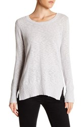 Joe Fresh Slub Crew Neck Sweater Gray