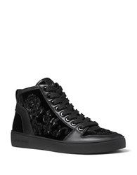 Michael Michael Kors Willow High Top Lace Up Sneakers Black