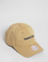 Mitchell And Ness Baseball Cap Adjustable Beige