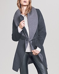 Dylan Gray Double Face Wrap Coat Bloomingdale's Exclusive Charcoal Grey