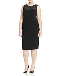 Marina Rinaldi Dattero Sheath Dress Black