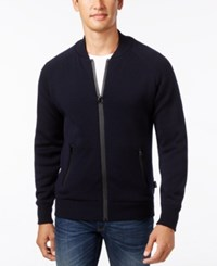 Barbour Men's Becket Zip Through Cardigan Sweater Navy