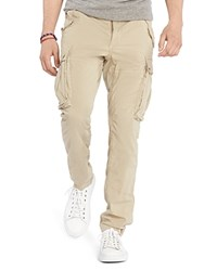 Polo Ralph Lauren Stretch Cotton Poplin Straight Fit Cargo Pants Boatng Khaki