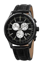Akribos Xxiv Men's Chronograph Date Strap Watch Black