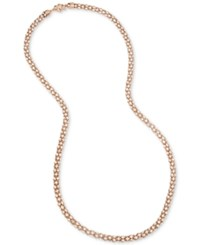 Betsey Johnson Rose Gold Tone Long Pave Glitter Rope Statement Necklace