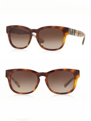 Burberry 55Mm Square Sunglasses Brown
