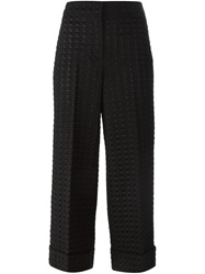 L'autre Chose Perforated Trousers Black