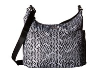Baggallini Hobo Tote Black And Grey Chevron Cross Body Handbags Gray