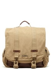 A. Kurtz Maplewood Courier Backpack Beige