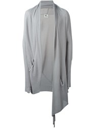 Lost And Found Draped Long Cardigan Grey