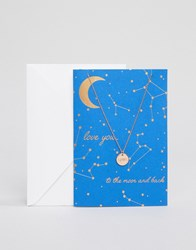 Orelia Love You To The Moon And Back Gift Card Gold