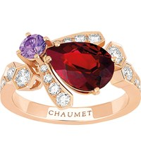 Chaumet Bee My Love 18Ct Rose Gold Sapphire And Garnet Ring