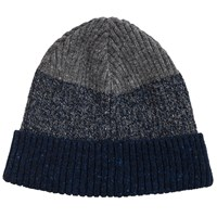 John Lewis And Co. Made In Italy Ombre Beanie Hat Navy Grey