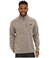 The North Face Gordon Lyons 1 4 Zip Pullover Dune Beige Heather Men's Long Sleeve Pullover