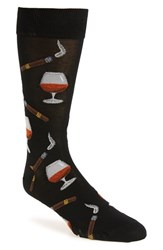 Hot Sox Men's 'Cognac And Cigars' Socks