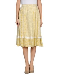Ekle' 3 4 Length Skirts Beige