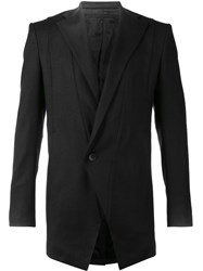 Julius Long Asymmetric Blazer Black