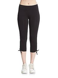 Andrew Marc New York Ruched Leggings Black