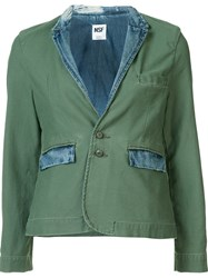 Nsf Two Button Blazer Green