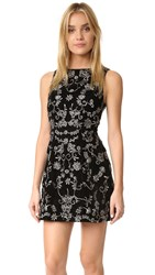 Alice Olivia Lindsey Velvet Pouf Dress Black Silver