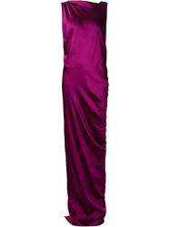 Stella Mccartney Draped Strap Detail Gown Pink And Purple
