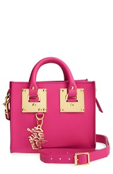 Sophie Hulme Leather Box Crossbody Bag Fuschia