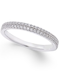 Macy's Diamond Micro Pave Wedding Band 1 4 Ct. T.W. In 14K White Gold