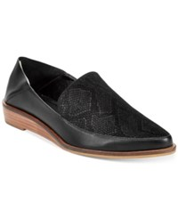 Kelsi Dagger Brooklyn Aada Pointed Toe Wedge Flats Women's Shoes Black