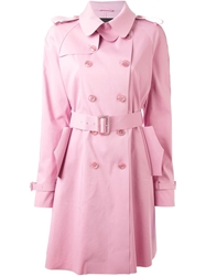 Ermanno Scervino Belted Trench Coat Pink And Purple