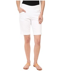 Jag Jeans Petite Ainsley Pull On Classic Fit Bermuda Bay Twill White Women's Shorts