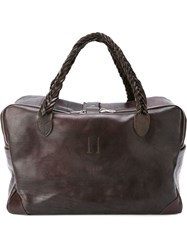 Golden Goose Deluxe Brand Braided Handle Holdall Brown