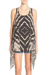 Rip Curl 'Midnight Hour' Tie Dye Crochet Back Cover Up Black