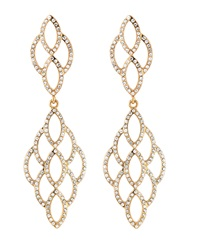 Rj Graziano R.J. Graziano Scalloped Cutout Crystal Drop Earrings