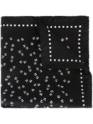 Dolce And Gabbana Printed Pocket Square Black