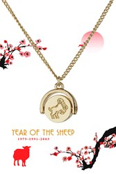 Topshop Year Of The Sheep Ditsy Necklace Gold