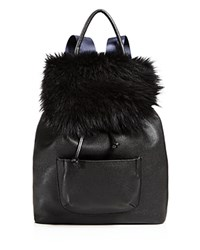 Elizabeth And James Langley Fur Backpack Black