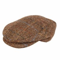 Dents Mens Flat Cap In Abraham Moon Tweed Chestnut