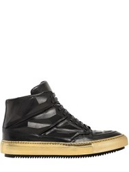 Alejandro Ingelmo Rubber Effect Leather High Top Sneakers
