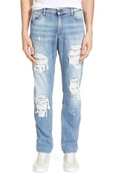 Men's Versace Jeans Ripped And Repaired Jeans